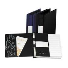 Charles Leonard® Varicap6 Expandable 1 To 6 Post Binder, 8-1/2 x 11, Black