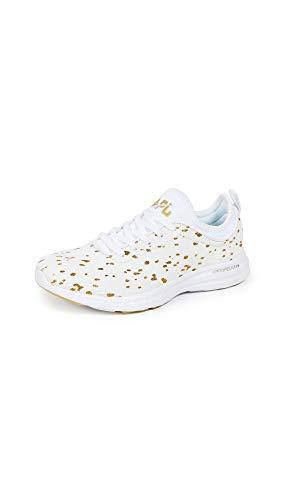 APL: Athletic Propulsion Labs Women's Techloom Phantom Sneakers, Cream/Gold, 7.5 M US ()