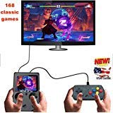 AB INC. built in 160+ games Handheld Game Console , Game Console 3 Inch almost 160+ Games Retro FC Game Player Classic Game Console 1 USB Charge GBA style , Birthday Presents for Children - Black by AIRBRUSH BODY ART INC. (Image #1)