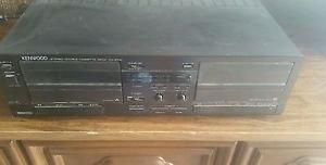 Kenwood Stereo Double Cassette Deck Kx-67w from KENWOOD