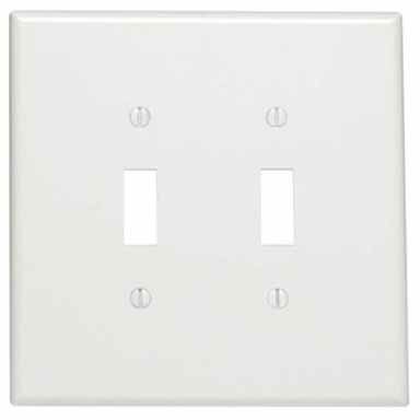 Double Plastic Oversized Switch Wall Plate