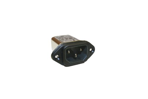 Interpower 83510443 Two Function Power Entry Module, C14 inlet, Filter, 10A Current Rating, 115/250VAC Voltage Rating by Interpower