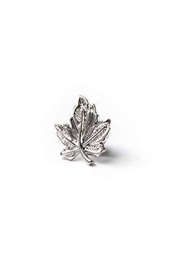 (Maple Leaf Silver Metal Lapel)