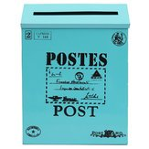 Put Post Garden Landscaping & Decking - Antiqued Iron Sheet Mail Garden Wall-Mounted Tin Box Letter Newspaper Post Box - Send Boxwood Succeeding Slot Package Situation Seat - 1PCs by Unknown (Image #7)