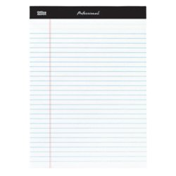 Stitched Top 50 Sheets Double (Office Depot Professional Legal Pad, 8 1/2in. x 11 3/4in, Legal Ruled, 50 Sheets Per Pad, White, Pack Of 8 Pads, 99528)