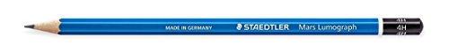 Staedtler Mars STD-100-4H Lumograph 4H Drawing Pencil