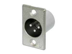 Neutrik NC3MP XLR CONNECTOR 3 PIN MALE CHASSIS MOUNT RECEPTACLE