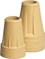 Extra Large Crutch Tip, Pair, 7/8'', Long Term Use by Carex Health Brands