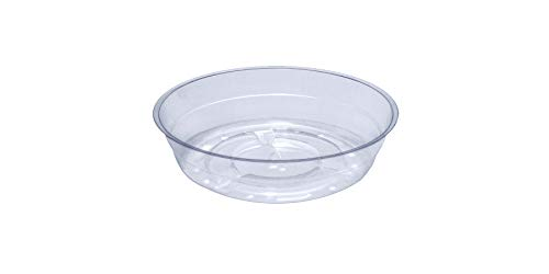 - Curtis Wagner Plastics Plant Tray Drip Pan Saucers (5-Pack) - Clear, Round (Diameter = 4