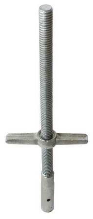 Scaffold Leveling Jack, Steel, Zinc Plated