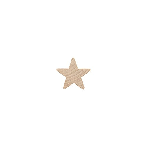 """Wooden Star - Wood Star ¾"""",small star, Natural Unfinished Wooden Star Cutout Shape (3/4 Inch) By Woodpeckers (100)"""