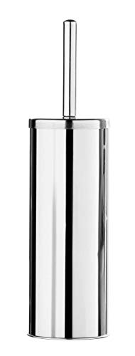Premier Housewares Stainless Steel Toilet Brush and Holder, 38 x 10 x 10 cm