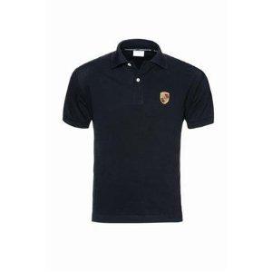 genuine porsche crest men 39 s polo shirt black. Black Bedroom Furniture Sets. Home Design Ideas