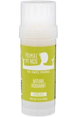 Primal Pit Paste, Deodorant Stick Lemongrass Natural, 2 Ounce ()
