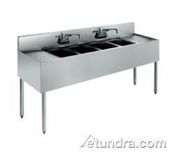 4 Bowl Underbar Sinks (Krowne Metal 18-74C 1800 Series Underbar Four Compartment Sink 84