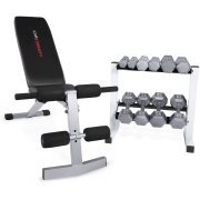 CAP Strength FID Bench with 150 lb Dumbbell Set by Cap