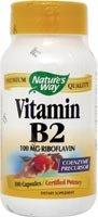 Nature Way - Vitamine B2, 100 mg, 100 capsules