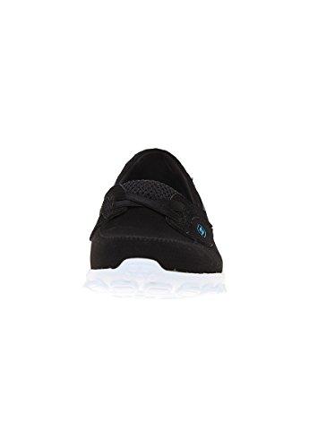 Skechers Donna Ez Flex 2 Navigate 22640 Sneaker Scarpa Nera / Bianca