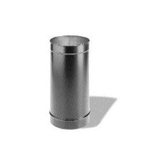 24 8 Inch x 24 Inch Dura-black 24-ga Welded Black Stovepipe (24ga Pipe)