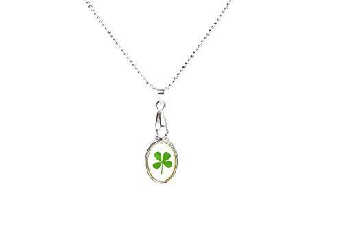 Lucky Charm 4-Leaf Clover Irish Good Luck Pendant Necklace