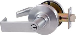 Schlage ND53PD-RHO Entrance Cylindrical Lock w/ Standard Keyed - Screw Brass Satin 606