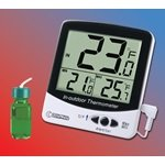 Certified Thermometer (Digital Jumbo Display Thermometer with Bottle Probe and Certificate of Accuracy for Freezers, Refrigerators, Incubators and Water Baths With MIN/MAX)