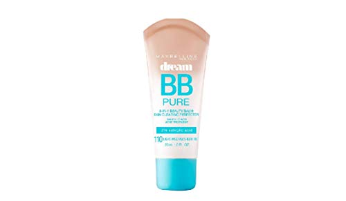 Cream Bb Foundation (Maybelline Makeup Dream Pure BB Cream, Light/Medium Skintones, BB Cream Face Makeup, 1 fl oz)