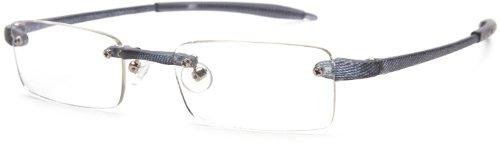 Visualites 201 Reading Glasses,Grey Matrix Frame/Clear Lens,2.50 Strength,48 - Glasses Online Vision