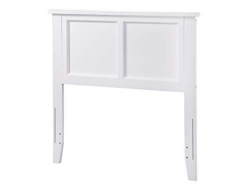 Atlantic Furniture AR286822 Madison Headboard, Twin, White (Twin White Headboard Bed)