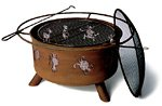 Sojoe Kokopelli Steel Fire Pit with Cover ()