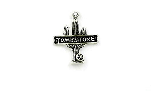 Pendant Jewelry Making/Chain Pendant/Bracelet Pendant Sterling Silver Tombstone Arizona Charm