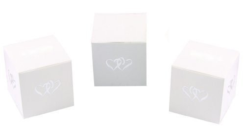 Hortense B. Hewitt One-Piece Favor Boxes, 2-Inch, Linked at The Heart, 25 Count