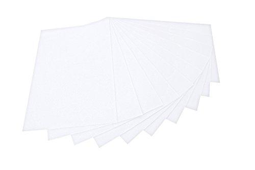 Folia 520400 - Bastelfilz 20 x 30 cm, 10 Blatt, weiß