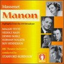MAGGIE TEYTE - Massenet Manon highlights From 1939 Broadcast - CD - NEW  - $79.95
