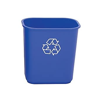 Charmant Highmark Office Depot Recycling Bin, 3.25 Gallons, Blue, WB0197