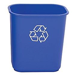 Highmark Office Depot Recycling Bin, 3.25 Gallons, Blue, WB0197