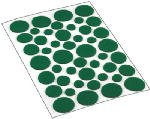 Shepherd 9423 Light Duty Felt Gard Felt Pads 46 Count