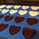 New Blue Silicone 24 Mini Heart Mold Baking Cake Pan with Kitchen Tools Combo