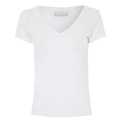 T-Shirt Essential Modal Branca Gola V