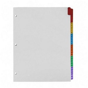 Sparco 21907 Index Dividers W/Table Of Contents, 1-31, 31 Tabs/ST, Multi (Preprinted Dividers Index Colored)