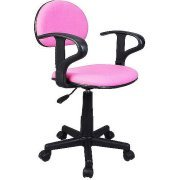 Merveilleux Student Task Chair With Arms, Multiple Colors (Pink)