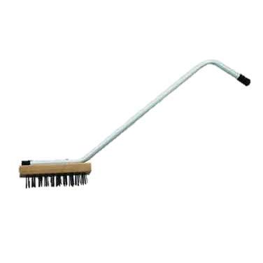 Commercial Broiler Brush With Steel Wire Bristles