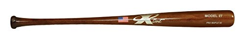 Pro Finish Wood Baseball Bat - X Bats - Pro Model 27 - 33 Inch Wood Baseball Bat - Maple - Walnut Finish - BBCOR Certified - (C271 Equivalent)