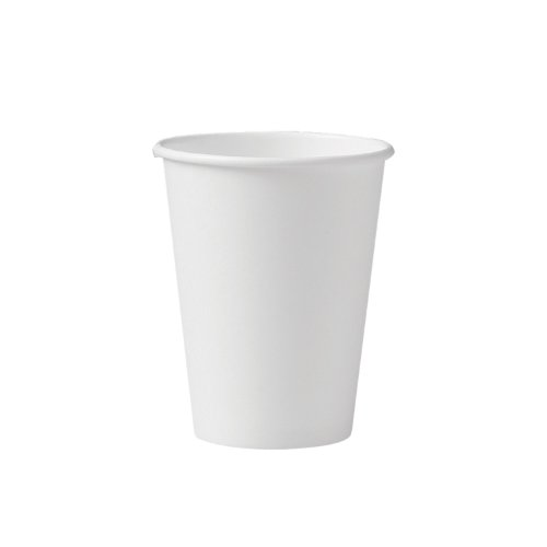 SOLO 412WN-2050 Single-Sided Poly Paper Hot Cup, 12 oz. Capacity, White (Pac of 1,000)