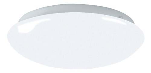 Lighting by AFX CMS2022ET Camden 1-22 Watt T9 Flush Mount Fixture, Shallow Cloud with Smooth White Diffuser