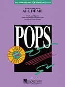 Hal Leonard All of Me Pops For String Quartet Series by John Legend Arranged by Larry Moore