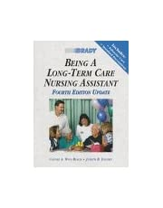Being a Long-Term Care Nursing Assistant, Updated (4th Edition)