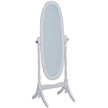 Amazon Com Wooden Cheval Floor Mirror White Finish By