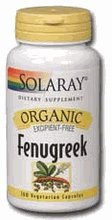 Solaray Organic Fenugreek Seed 620mg - 100 Capsules