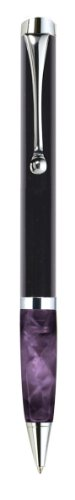 Pierre Belvedere Executive Mini Ballpoint Pen, Black/Plum (072210)